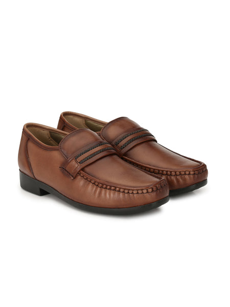 TURMUK - 837 BROWN COMFORT LEATHER SHOES