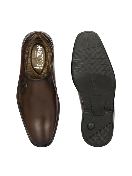 CALVIN - 1308 BROWN FORMAL LEATHER SHOES
