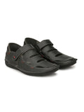 ASTRIX X-1 BLACK LEATHER SANDAL