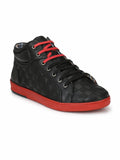 ALVISH SN-5 BLACK LEATHER SHOES