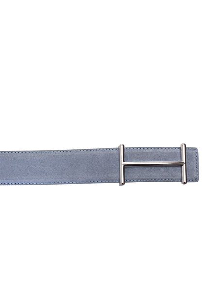 SUEDE SKY BLUE LEATHER BELTS