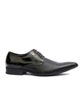 PHILIPY T-2 BLACK MATRIX LEATHER SHOES