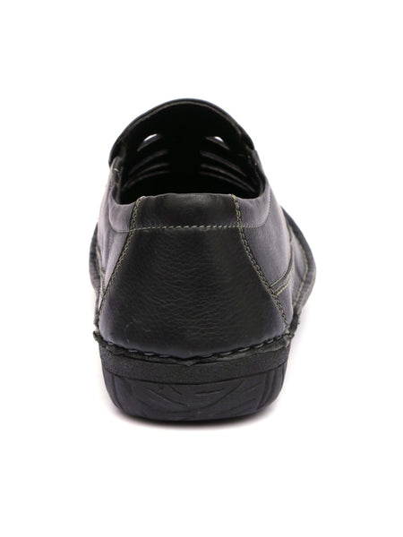 ASTRIX X-2 BLACK LEATHER SANDALS