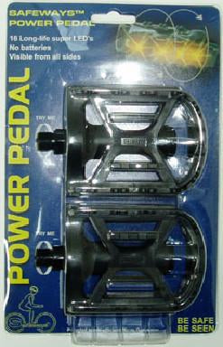 Power Pedal  w/ flashing red light, black, axle 1/2