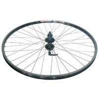 700C ALEX HYBRID DM-18 D/W 8 SPEED BLACK DISC MACH 1 SPOKES CASSETTE WHEEL (36 HOLE)