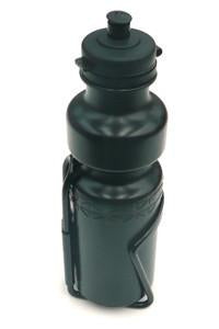 Bike Lane Water Bottle 750cc W/Alloy holder - Black