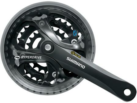 FC-M361 FRONT CRANKSET 170mm 42-32-22 BLACK w/o GUARD