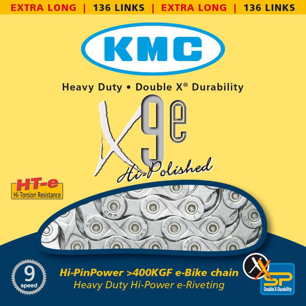 10 SPEED MTB/ROAD X10e Silver 3X KMC Chain or 9 SPEED X9e