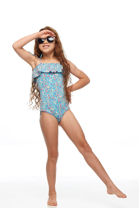 Isle Of White One Piece Swimmer Blue-Kayako