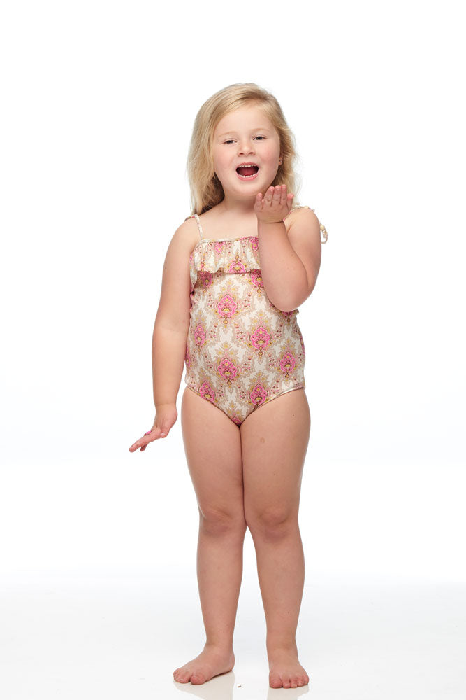 Isle of White One Piece Swimmer Pink-Lord Paisley