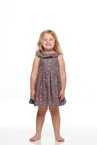 Girls Liberty Deer Print Open Back Bow Dress