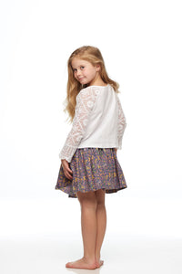 Girls Liberty Deer Print Skirt