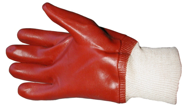 Standard PVC Gloves with knitted wrist to buy from Cleaning Supplies 2U