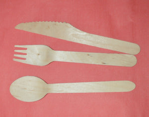 Wooden Cutlery to buy from Cleaning Supplies 2U