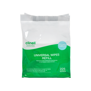 Clinell Universal Surface Wipes (effective against Covid19) - 225 Refill pack for bucket to buy from Cleaning Supplies 2U