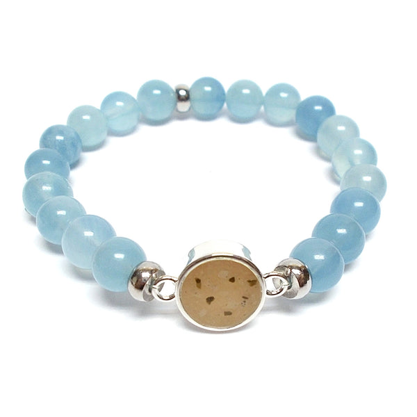 Round Beaded Bracelet - Aquamarine