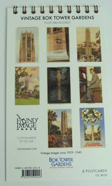 Vintage Bok Tower Gardens Postcard Booklet
