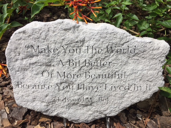 """Make You the World"" Garden Stone"