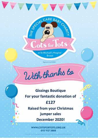 Gissings Boutique Cots for Tots Charity St Micheals Hospital NICU WARD