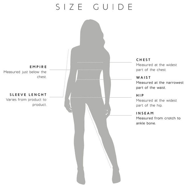 Gissings Boutique Measurement Guide