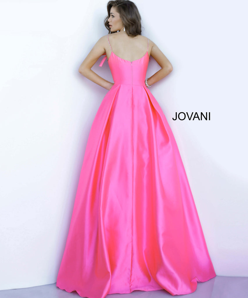 Jovani Pink Pleated Skirt Prom Ballgown - Gissings Boutique