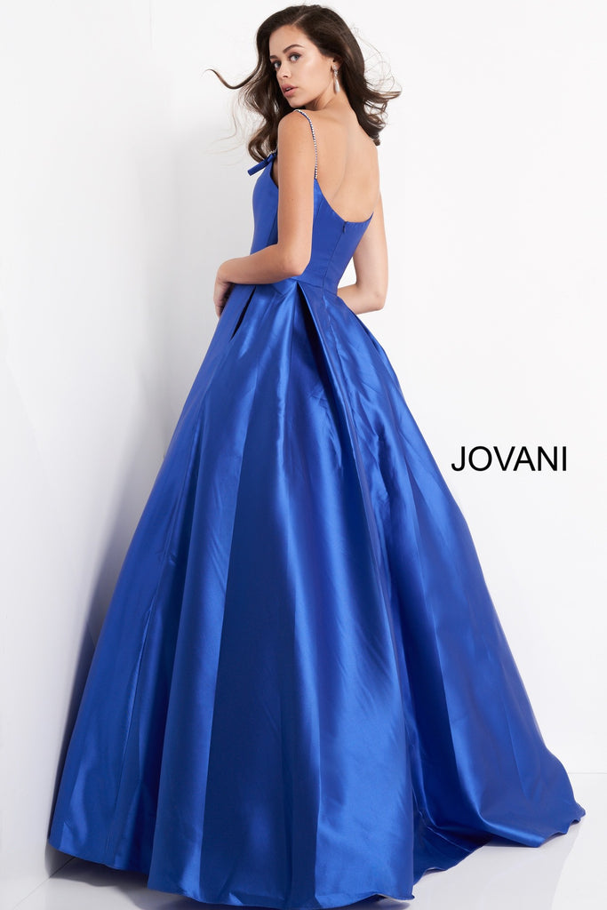 Jovani Royal Pleated Skirt Prom Ballgown - Gissings Boutique