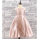 Girls Pink Satin Butterfly Bridesmaid Dress - Gissings Boutique