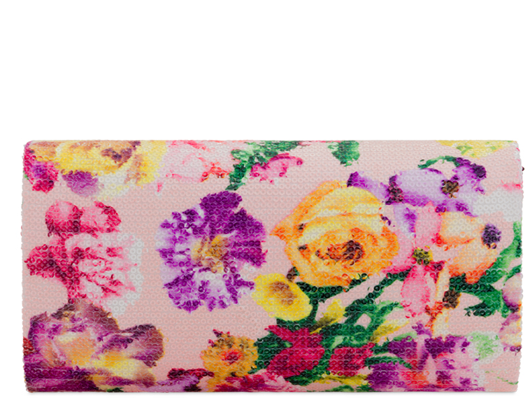 Floral Sequin Evening Bag