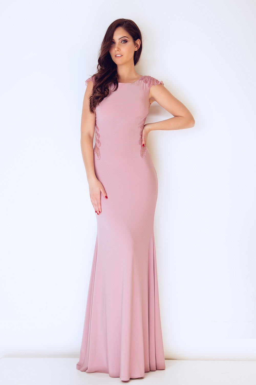 Misae Peony Pink Long Dress - Gissings Boutique