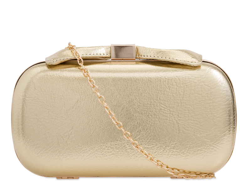 Gold Bow Mini Clutch Evening Bag