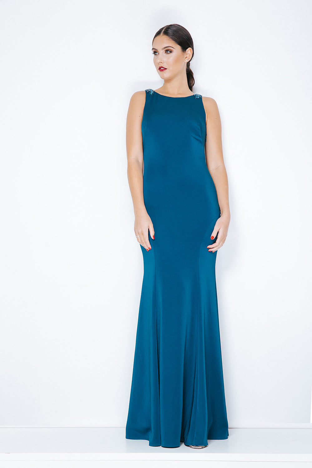 Rue Burgundy Evening Gown - Gissings Boutique