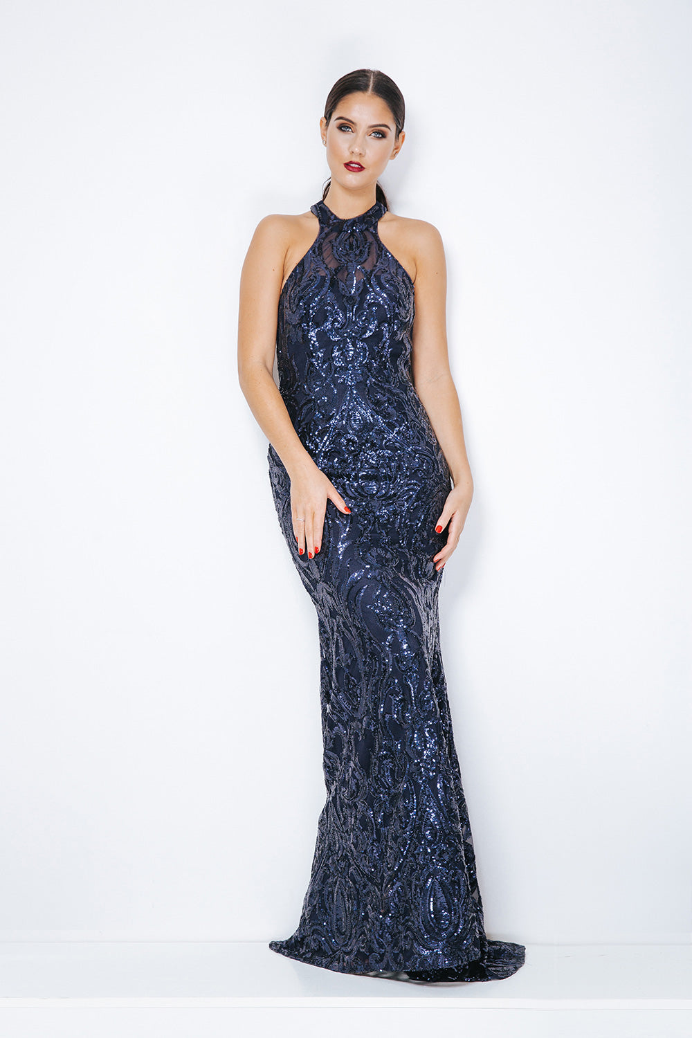 Midnight Blue Evening Gown