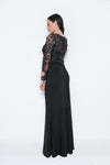 Annely Black Long Evening Gown