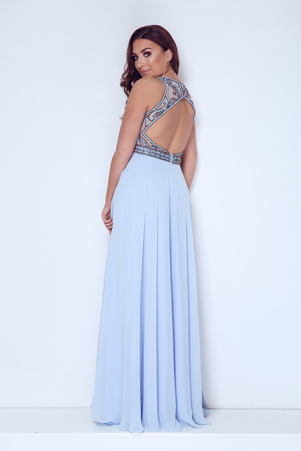Dynasty London Long Chiffon Evening Gown - Gissings Boutique