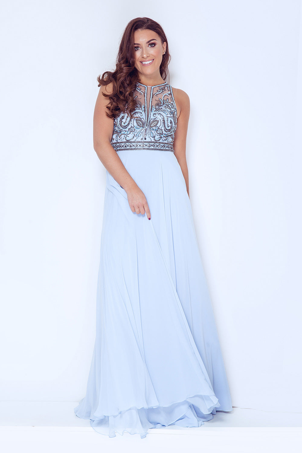 Daiana Long Chiffon Evening Gown