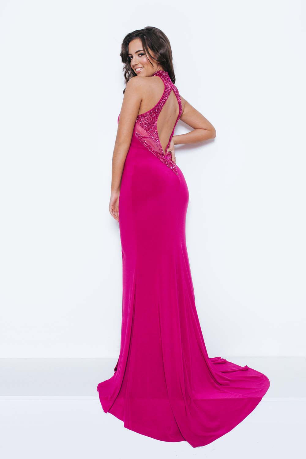 Katen Halterneck Evening Gown - Gissings Boutique