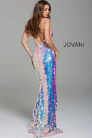 Jovani Stunning Pearlescent Sequin Evening Gown - Gissings Boutique