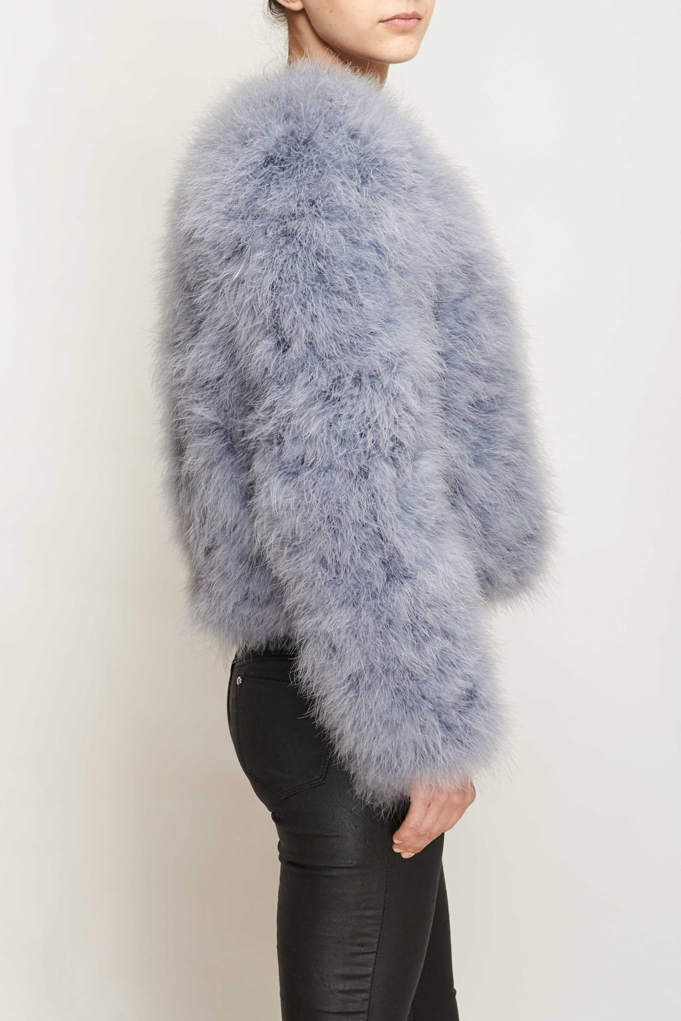 Glamorous Feather Coat - Gissings Boutique