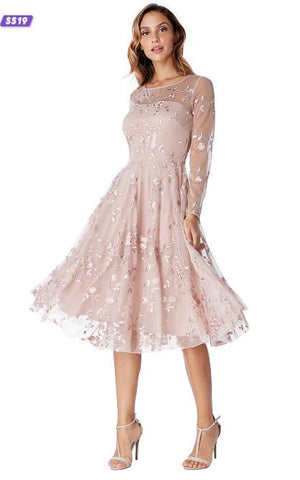 Misty Rose Lace Cocktail Dress - Gissings Boutique