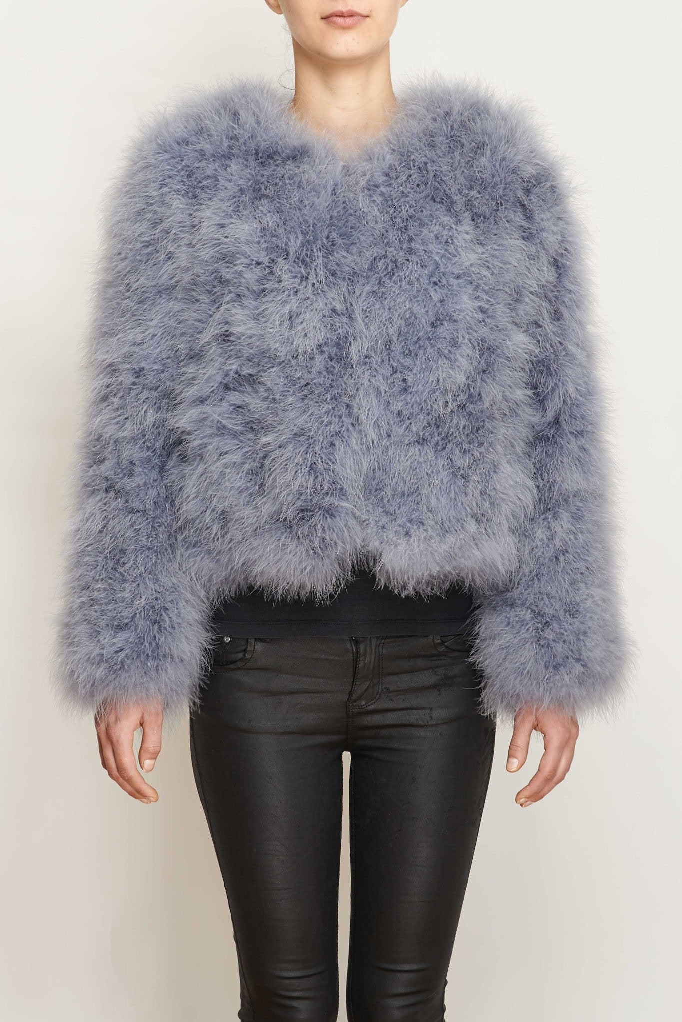 Glamorous Feather Coat