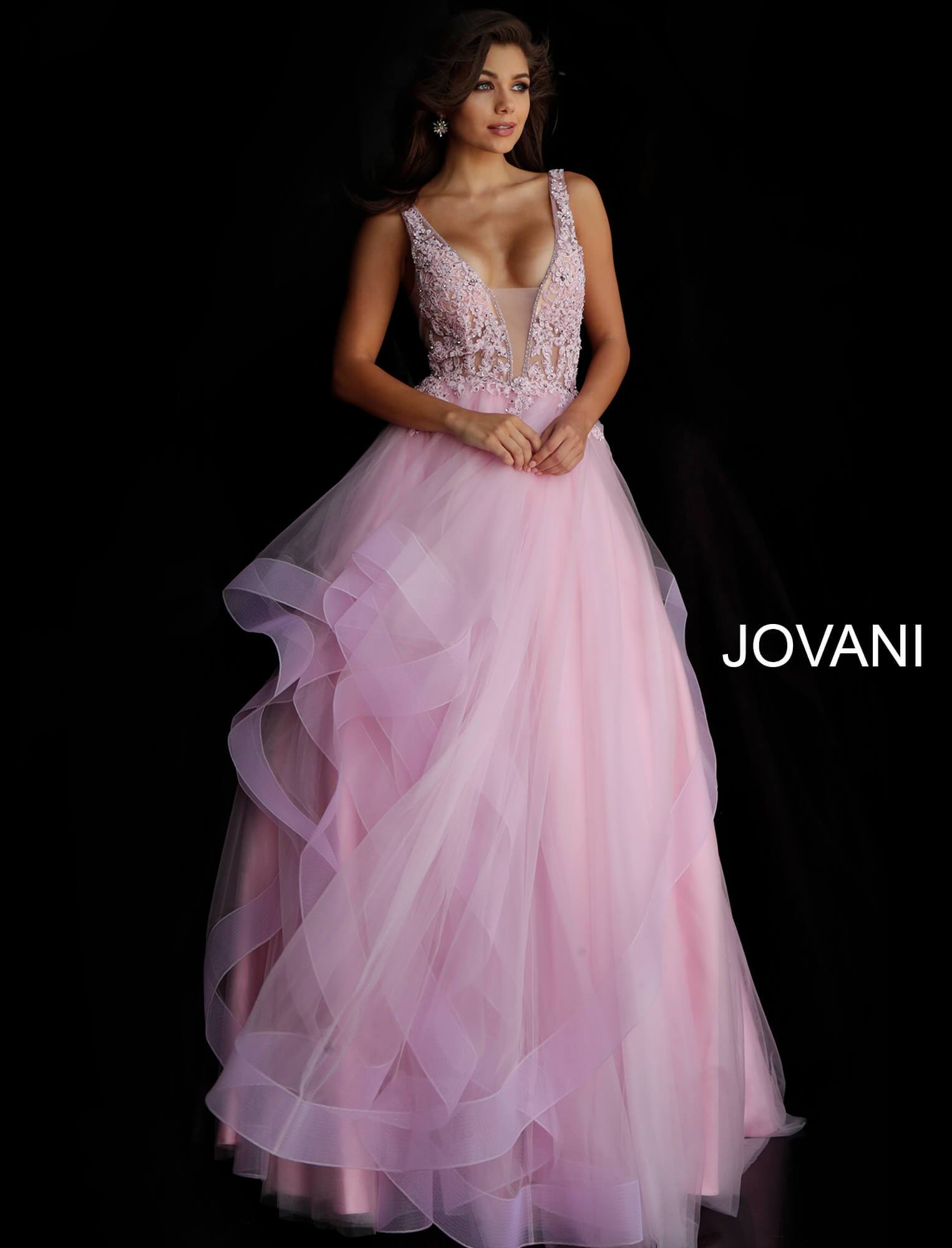 Jovani Pink  Sleeveless Prom Ballgown - Gissings Boutique