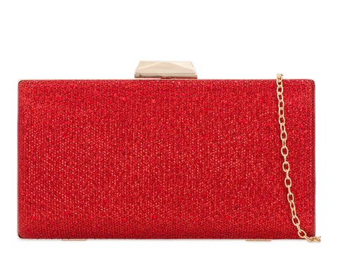 Red Crystal & Glitter Clutch Bag - Gissings Boutique