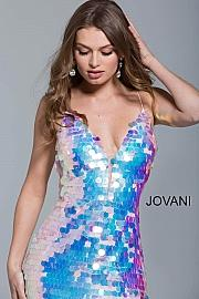 Jovani Stunning Pearlescent Sequin Evening Gown