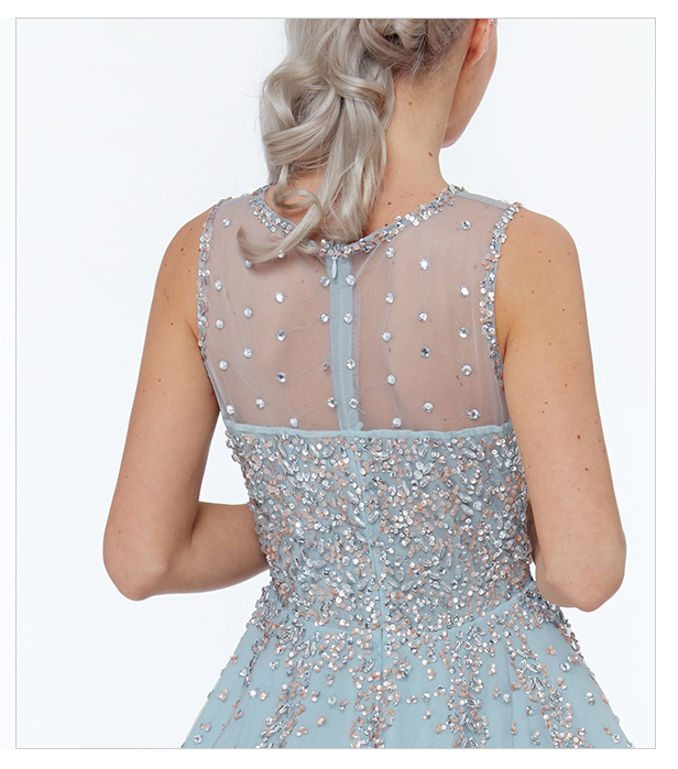 Baby Blue Cocktail Dress - Gissings Boutique