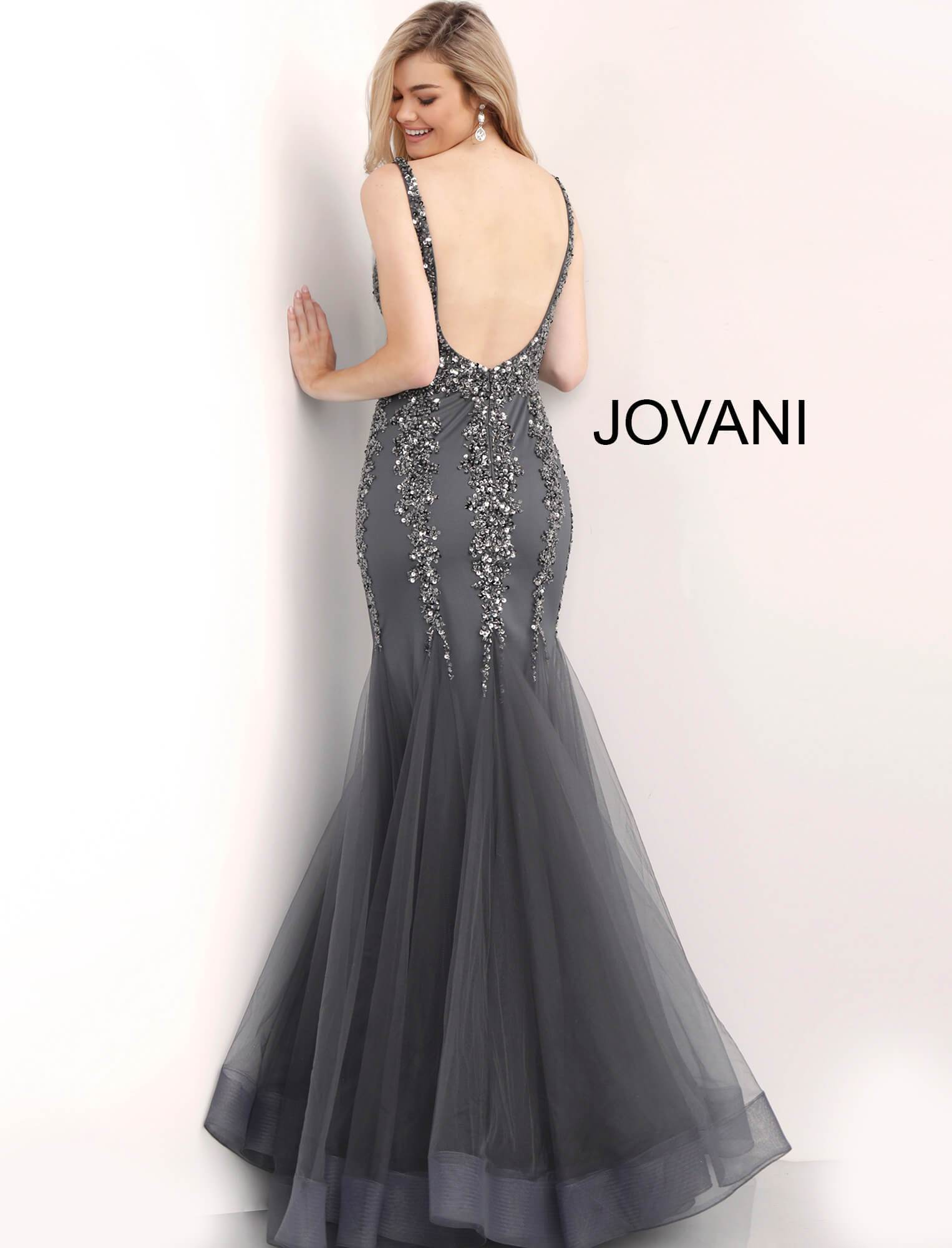 Jovani Mermaid Evening Gown - Gissings Boutique