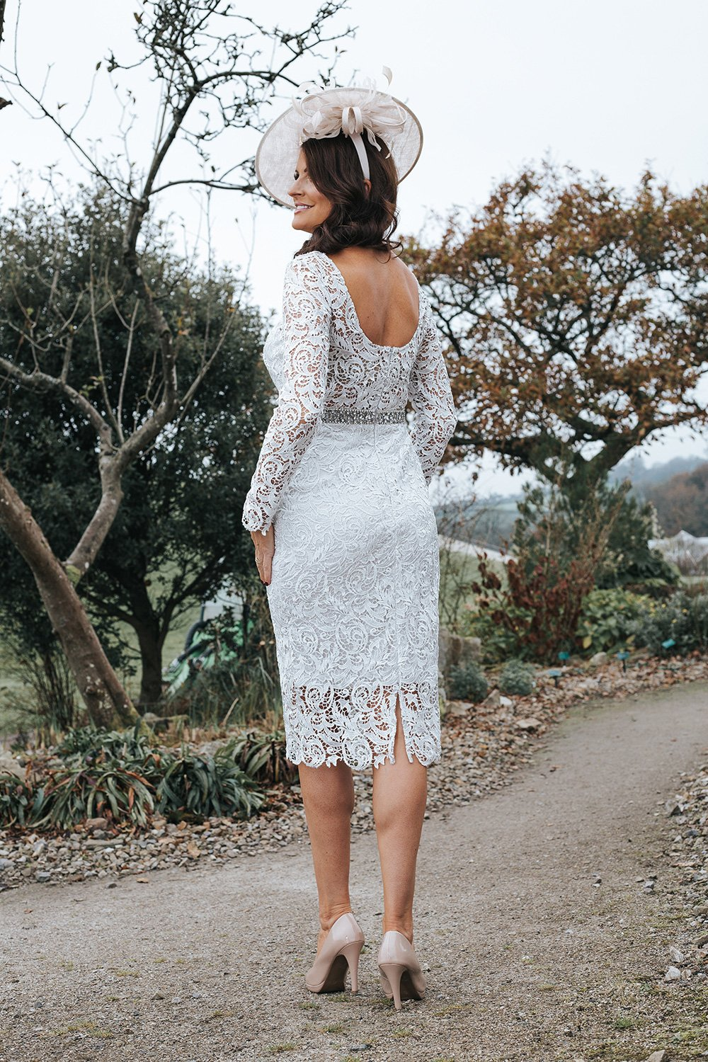 Silver Lace Mother of The Bride Dress