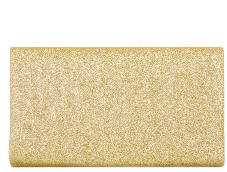 Gold Glitter Clutch Bag
