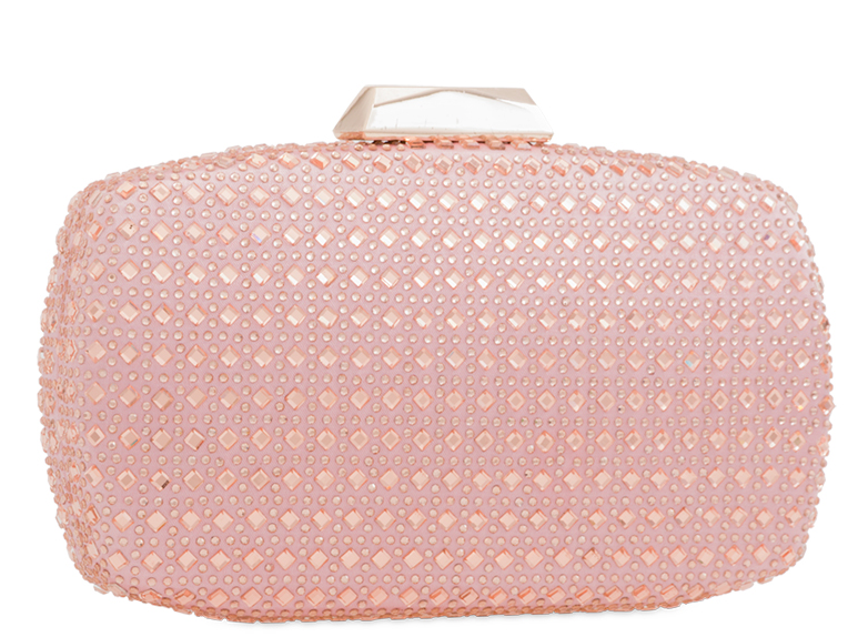 Pink Crystal Embellished Evening Bag