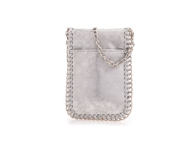 Suede Silver Effect Stella McCartney Style Bag