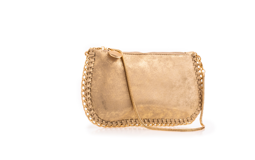 Suede Gold Effect Stella McCartney Style Bag - Gissings Boutique
